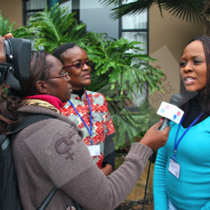 1. Saenna Chingamuka talking gender to the media