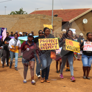 2. 16 days march against violence in Orange Farm in South Africa