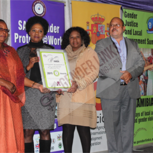 Otjiwarongo Municipality Receiving a certificate as the most resourcerful  Council in the category of COE_National Summit _N