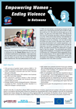 Empower women Botswana pamphlet