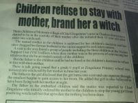 Children refuse to stay with mother, brand her a witch_New Vision Newspaper_13 April 2015
