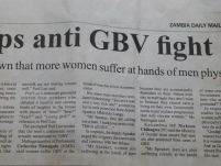 State ups anti GBV fight- Luo….Studies have shown that more women suffer at hands of men physically, emotionally_Zambia Daily Mail_01 April 2015