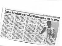 Lame: Revelation of what Botswana is yet to offer_Daily News_24 March 2017