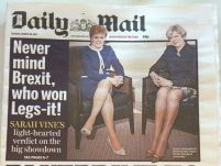 Never mind brexit who won legs it_daily mail_ 28 March 2017