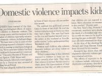Domestic violence impacts kids_The new age