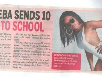 Bonang Matheba sends 10 girls to school_ The new age