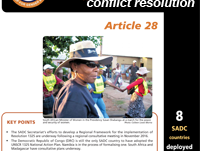 Peace building & conflict resolution – SADC Barometer 2017