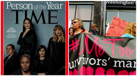 Global : 'Time' magazine names #metoo movement as 'person of the year'