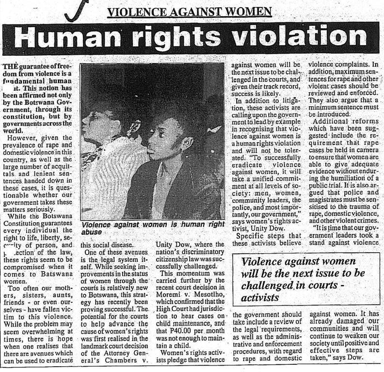 newspaper article on violation of human rights