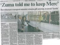 Zuma Told Me to Keep Merc – The Star