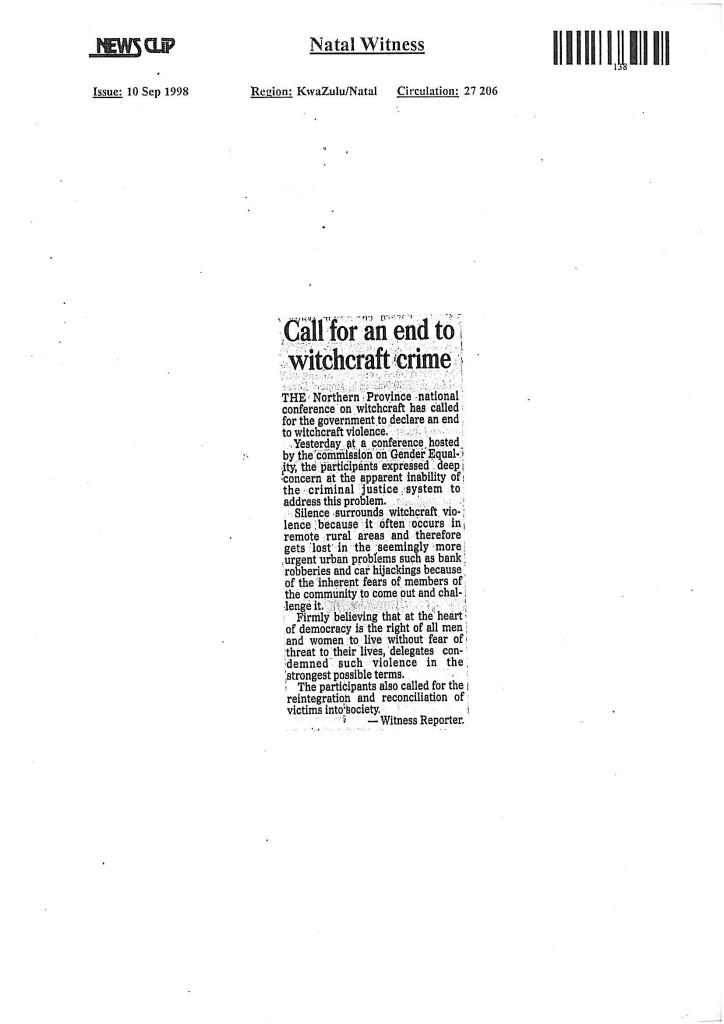 Natal Witness, Newspaper Publishers, Durban, ...031 533 7