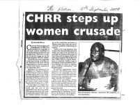 CHRR steps up women crusade – The Nation