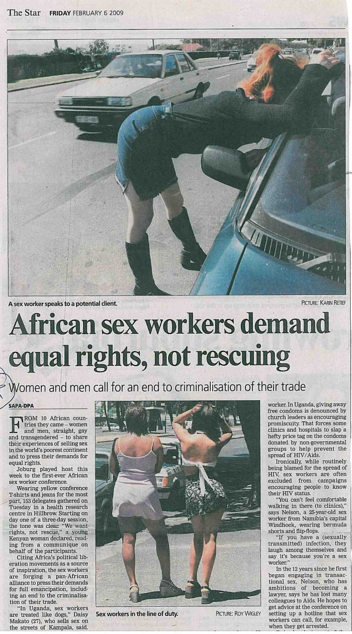 african sex workers demand equal rights not rescuing - the star