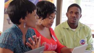 Saeanna Chingamuka_ Tibuyile Dlamini and Sgcibelo Magagula during the Training of Trainers workshop_Swaziland