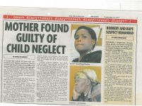 Mother found guilty of child neglect_ The Voive