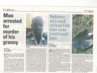 Man arrested for murder of his granny _ Botswana guardian