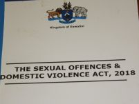 ESwatini: SODV Act most comprehensive law on GBV
